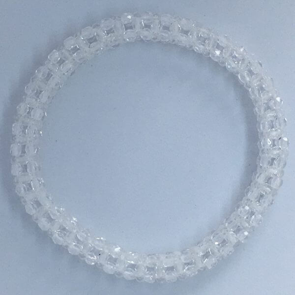 Cubic Right Angle Weave Bangle - Crystal 1